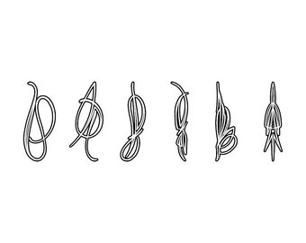 Outlined Pinstriping - Download Digital Clipart Silhouette Vector Files