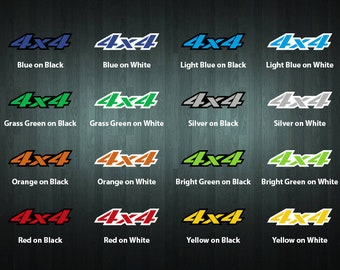 Pair of 4x4 vinyl stickers (choose your color and size)