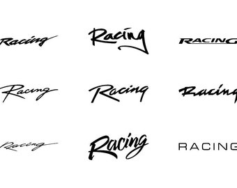 Racing - Download Digital Clipart Silhouette Vector Files