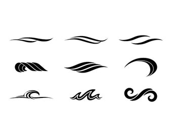 Waves - Download Digital Clipart Silhouette Vector Files