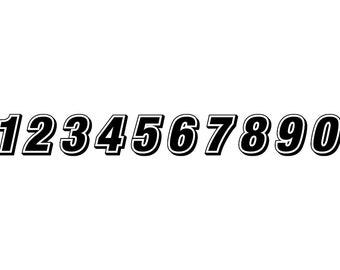 Racing Numbers - Download Digital Clipart Silhouette Vector Files