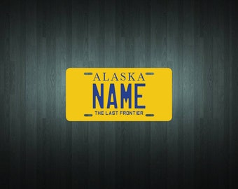 Custom Alaska Style License Plate (choose your text, size, material)