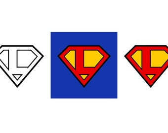 Superman Letter L - Download Digital Clipart Silhouette Vector Files