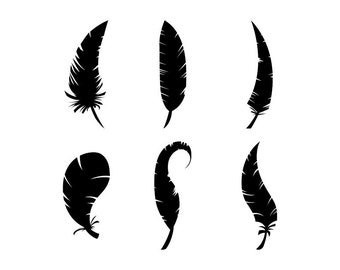 Feather - Download Digital Clipart Silhouette Vector Files
