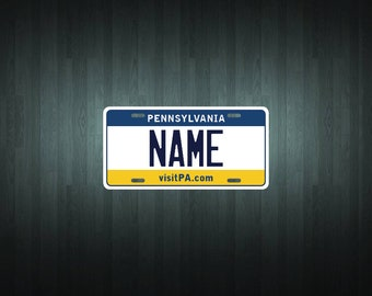 Custom Pennsylvania Style License Plate (choose your text, size, material)