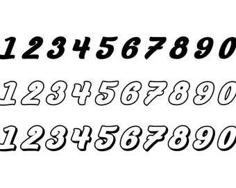 Outlined Numbers #6 - Download Digital Clipart Silhouette Vector Files