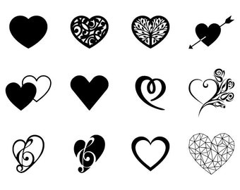 Heart - Download Digital Clipart Silhouette Vector Files