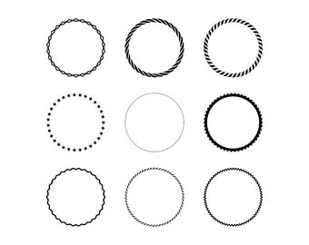Decorative Circles - Download Digital Clipart Silhouette Vector Files
