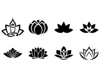 Lotus - Download Digital Clipart Silhouette Vector Files