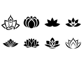 Lotus - Download Digital Clipart Silhouette Vector Files