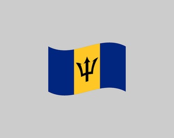 Barbados Flag - Download Digital Clipart Silhouette Vector Files