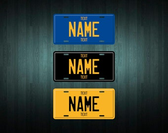 Custom Legacy Style License Plate (choose your text, color, size, material)