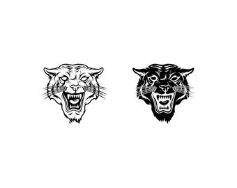 Tiger - Download Digital Clipart Silhouette Vector Files