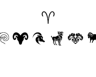 Aries - Download Digital Clipart Silhouette Vector Files