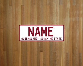 Create your own Queensland Australia number plate