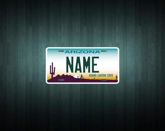 Custom Arizona License Plate (choose your text, size, material)