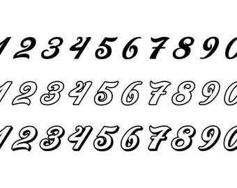 Outlined Numbers #7 - Download Digital Clipart Silhouette Vector Files