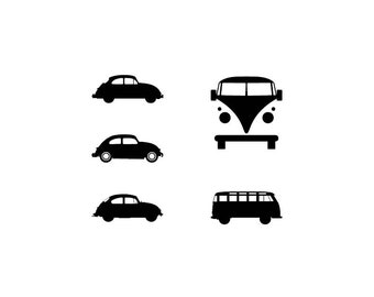 Volkswagen - Download Digital Clipart Silhouette Vector Files