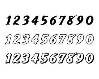 Outlined Numbers #27 - Download Digital Clipart Silhouette Vector Files