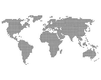 World Map Dots - Download Digital Clipart Silhouette Vector Files