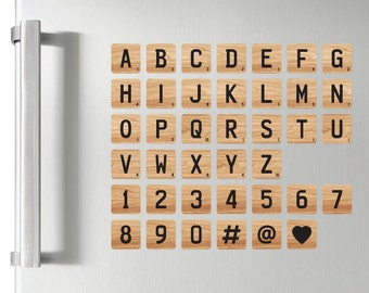 Personalized Wood Effect Scrabble Letter Tile Stickers