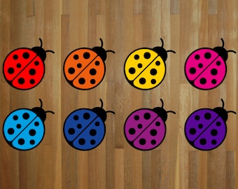 Ladybug stickers - choose your size and color