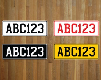 Create your own NZ style number plate