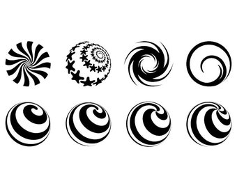 Swirls and Spirals - Download Digital Clipart Silhouette Vector Files