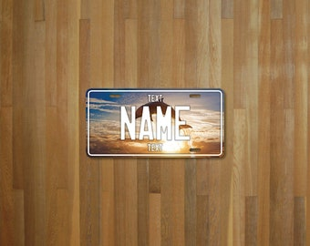 Personalised Dolphin License Plate (choose your text, color, size, material)