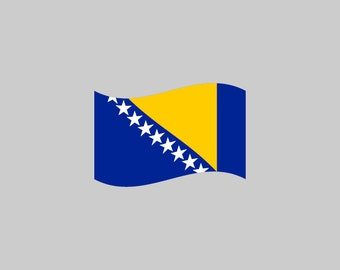 Bosnia And Herzegovina Flag - Download Digital Clipart Silhouette Vector Files