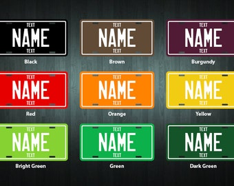 Personalized License Plate (choose your text, color, size, material)