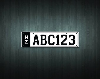Create your own custom slimline NZ number plate