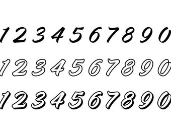 Outlined Numbers #14 - Download Digital Clipart Silhouette Vector Files