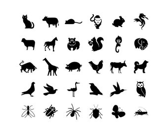 Animals - Download Digital Clipart Silhouette Vector Files