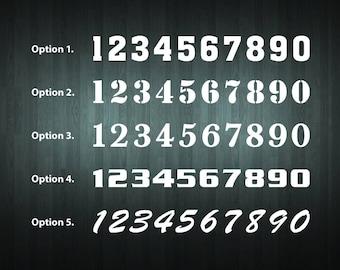 Personalised Motocross Numbers Sticker Set