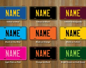 Personalized License Plate (choose your text, color, size)