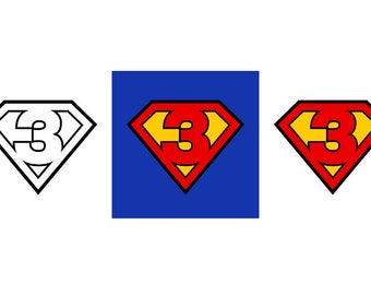 Superman #3 - Download Digital Clipart Silhouette Vector Files