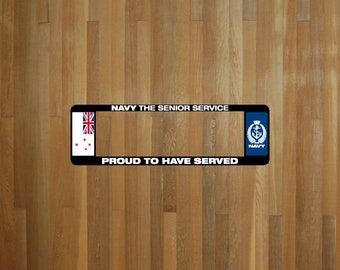 Navy Senior Service Number Plate Surrounds