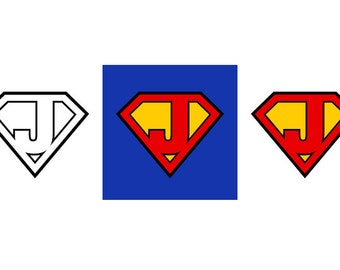 Superman Letter J - Download Digital Clipart Silhouette Vector Files