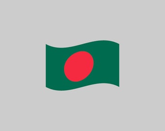 Bangladesh Flag - Download Digital Clipart Silhouette Vector Files