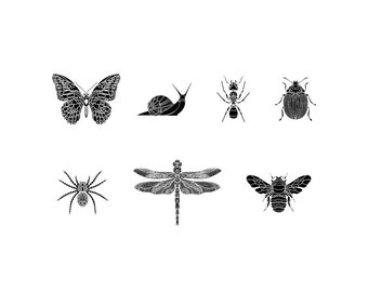 Insects - Download Digital Clipart Silhouette Vector Files