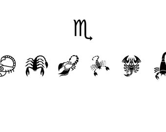 Scorpio - Download Digital Clipart Silhouette Vector Files
