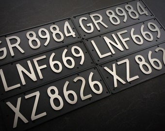 Replica Old School Black NZ Number Plates (alloy, 3D)