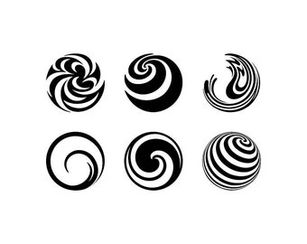 Spirals and Swirls - Download Digital Clipart Silhouette Vector Files