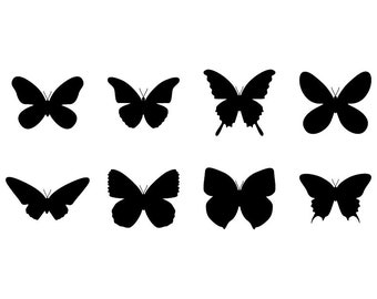 Butterfly - Download Digital Clipart Silhouette Vector Files