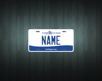 CUSTOM PERSONALIZED 2 HOLE BICYCLE STATE LICENSE PLATE-MICHIGAN 1984