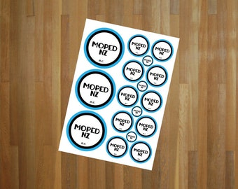 Moped NZ Sticker Sheet