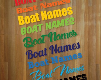 Pair of Personalized Boat Name Stickers