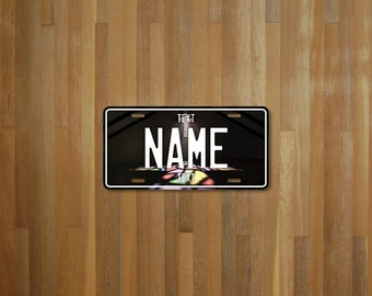 Personalised License Plate - Church stained glass (choose your text, color, size, material)