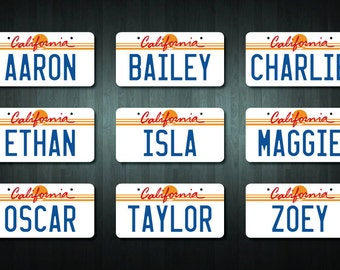 Personalized California USA Style License Plate